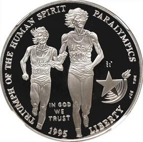 1995 P OLYMPICS PARALYMPICS S$1 PF obverse