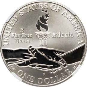 1995 P OLYMPICS PARALYMPICS S$1 PF reverse