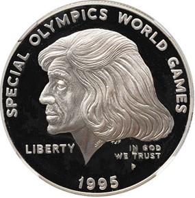1995 P SPEC OLYMPICS S$1 PF obverse