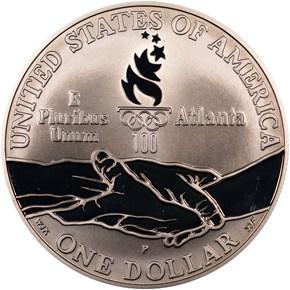 1995 P OLYMPICS GYMNASTICS S$1 PF reverse
