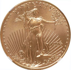 1996 EAGLE G$25 MS obverse
