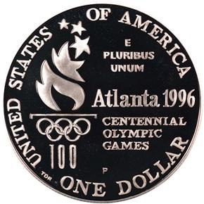 1996 P OLYMPICS HIGH JUMP S$1 PF reverse