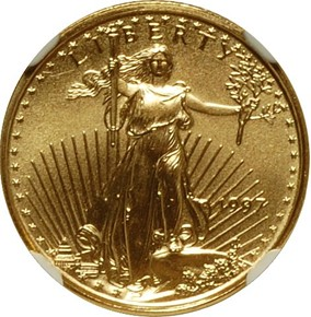 1997 EAGLE G$5 MS obverse