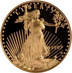 1997 W EAGLE G$25 PF obverse