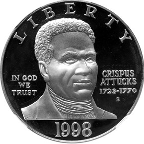 1998 S BLACK PATRIOTS S$1 PF obverse