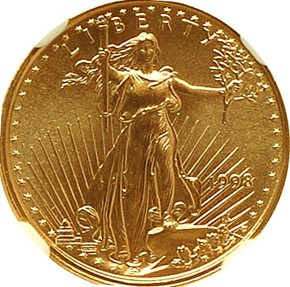 1998 EAGLE G$5 MS obverse