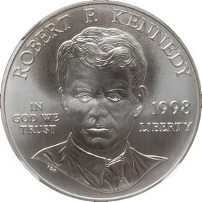 1998S ROBERT KENNEDY S$1 MS obverse