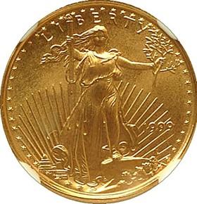 1999 EAGLE G$5 MS obverse