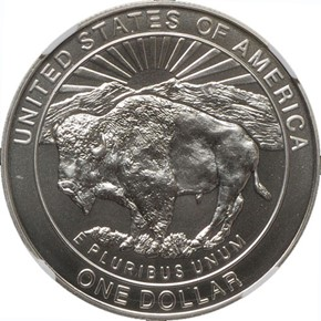 1999 P YELLOWSTONE S$1 MS reverse