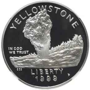1999 P YELLOWSTONE S$1 PF obverse