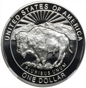 1999 P YELLOWSTONE S$1 PF reverse