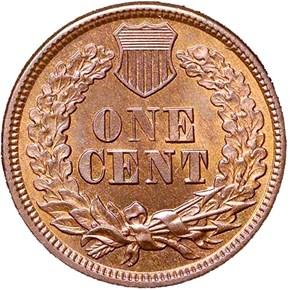 1864 BRONZE 1C MS reverse