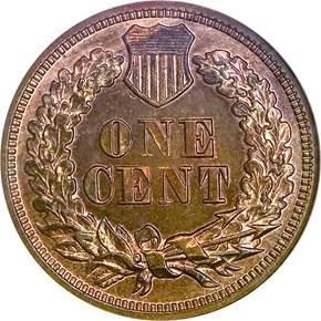 1864 L BRONZE 1C PF reverse