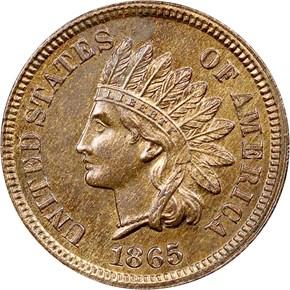 1865 1C MS obverse