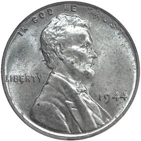 1944 STEEL 1C MS obverse