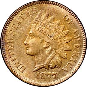 1877 1C MS obverse