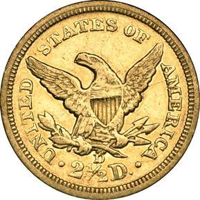 1840 D $2.5 MS reverse