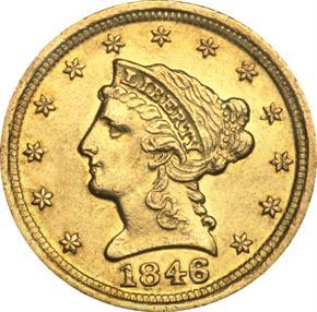 1846 D $2.5 MS obverse