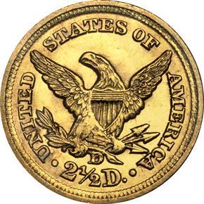 1848 D $2.5 MS reverse