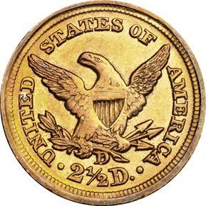 1856 D $2.5 MS reverse
