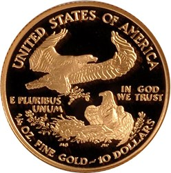 2000 W EAGLE G$10 PF reverse