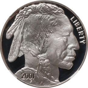 2001 P BUFFALO S$1 PF obverse