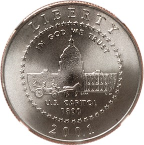 2001 P CAPITOL 50C MS obverse
