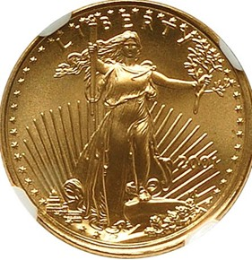 2001 EAGLE G$5 MS obverse