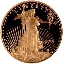2001 W EAGLE G$50 PF obverse