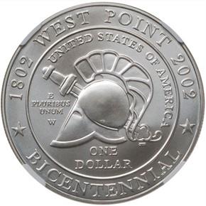2002 W WEST POINT S$1 MS reverse