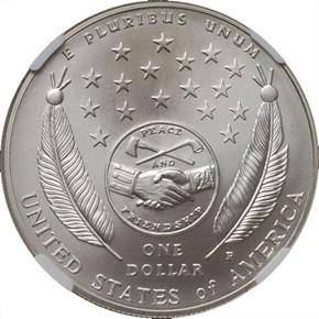 2004 P LEWIS & CLARK S$1 MS reverse