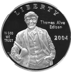 2004 P EDISON S$1 PF obverse