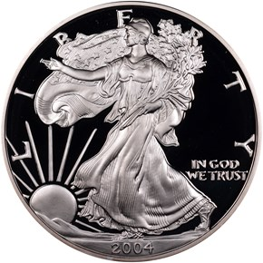2004 W EAGLE S$1 PF obverse