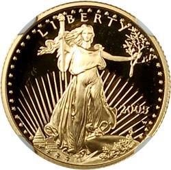 2005 W EAGLE G$5 PF obverse