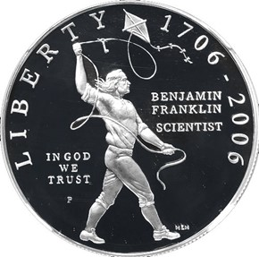 2006 P BEN FRANKLIN SCIENTIST S$1 PF obverse