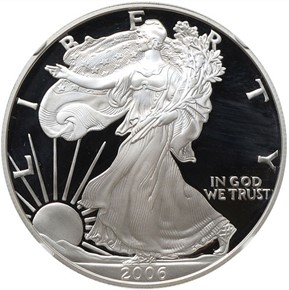 2006 W EAGLE 20TH ANNIVERSARY S$1 PF obverse