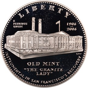 2006 S SAN FRANCISCO OLD MINT S$1 PF obverse