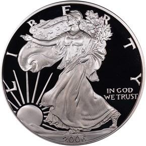 2006 W EAGLE 20TH ANNIVERSARY S$1 PF obverse