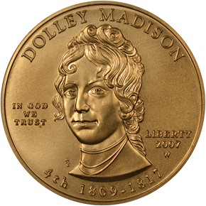 2007 W DOLLEY MADISON G$10 MS obverse