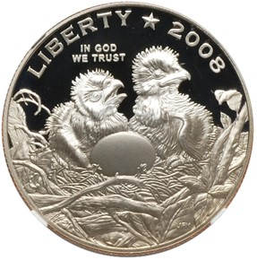 2008 S BALD EAGLE 50C PF obverse