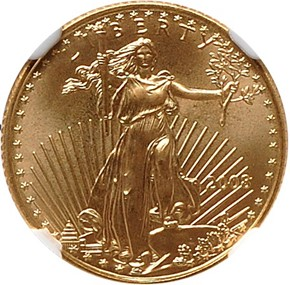 2008 EAGLE G$5 MS obverse