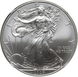 2008 EAGLE S$1 MS obverse