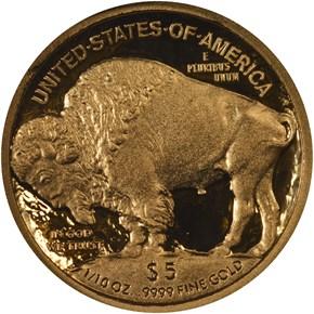 2008 W BUFFALO .9999 FINE G$5 PF reverse