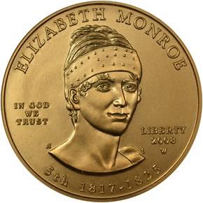 2008 W ELIZABETH MONROE G$10 MS obverse