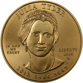 2009 W JULIA TYLER G$10 MS obverse