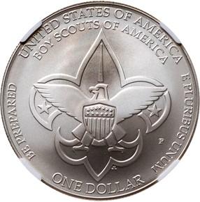 2010 P BOY SCOUTS S$1 MS reverse