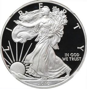 2010 W EAGLE S$1 PF obverse