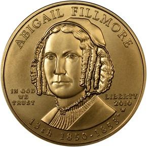 2010 W ABIGAIL FILLMORE G$10 MS obverse
