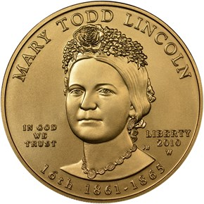 2010 W MARY LINCOLN G$10 MS obverse