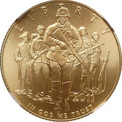 2011 P U.S. ARMY $5 MS obverse